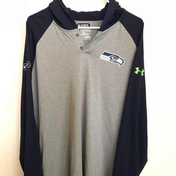 new product 01c8f 86e15 Under Armour NFL Combine Seahawks Hoodie Official